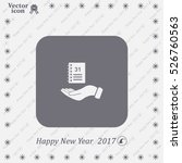 diary for 2016 | Shutterstock .eps vector #526760563