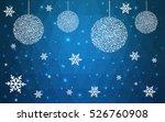 light blue christmas postcard...   Shutterstock .eps vector #526760908