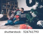 young female laughing and... | Shutterstock . vector #526761793