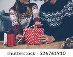 crop faceless couple in... | Shutterstock . vector #526761910