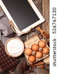 ingredient for chocolate cake | Shutterstock . vector #526767130