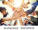 college students teamwork... | Shutterstock . vector #526769410