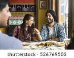 indian ethnicity meal food roti ... | Shutterstock . vector #526769503