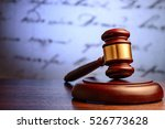 wooden judge or auctioneers... | Shutterstock . vector #526773628