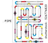 the elements of the pipeline.... | Shutterstock .eps vector #526776820