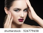 beauty fashion portrait of... | Shutterstock . vector #526779658