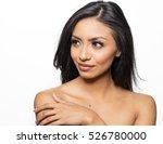 beautiful woman bare shoulders... | Shutterstock . vector #526780000