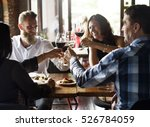 restaurant chilling out classy... | Shutterstock . vector #526784059