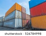 containers ready to be shipped... | Shutterstock . vector #526784998