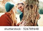 romantic couple has beautiful... | Shutterstock . vector #526789648