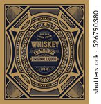 old whiskey label with vintage... | Shutterstock .eps vector #526790380