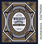 vintage label for whiskey. you... | Shutterstock .eps vector #526790404