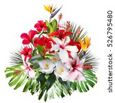 Floral Tropical Bouquet Isolated A - Fine Art prints