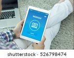 webinar concept on screen | Shutterstock . vector #526798474