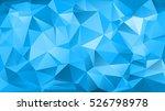 blue triangular abstract... | Shutterstock .eps vector #526798978