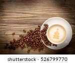 coffee cup with drawing... | Shutterstock . vector #526799770