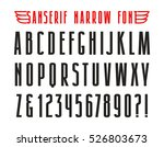 narrow sanserif font. isolated... | Shutterstock .eps vector #526803673