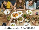 women communication dinner... | Shutterstock . vector #526804483
