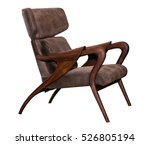 leather brown chair isolated on ... | Shutterstock . vector #526805194