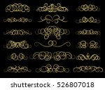gold vintage decor elements and ... | Shutterstock .eps vector #526807018