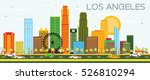los angeles skyline with color... | Shutterstock .eps vector #526810294