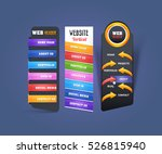 vertical colorful header web... | Shutterstock .eps vector #526815940