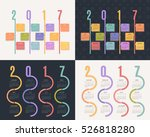 2017 multicolored full calendar ... | Shutterstock .eps vector #526818280