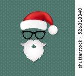 xmas retro postcard  with... | Shutterstock .eps vector #526818340