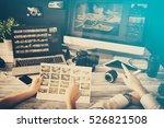 photographer journalist camera... | Shutterstock . vector #526821508