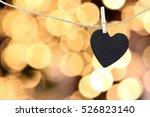 Black Heart Hung On Hemp Rope...