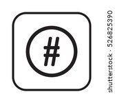 hashtag icon. flat design. | Shutterstock .eps vector #526825390