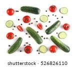 Fresh Vegetables On White...