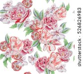 seamless pattern with beautiful ... | Shutterstock . vector #526826983