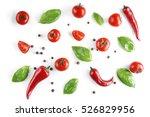 fresh vegetables on white...   Shutterstock . vector #526829956