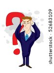 businessman and question mark   Shutterstock .eps vector #52683109