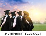 graduates face the morning sun | Shutterstock . vector #526837234