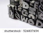 historical letterpress types ... | Shutterstock . vector #526837654