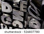historical letterpress types ... | Shutterstock . vector #526837780