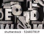 historical letterpress types ... | Shutterstock . vector #526837819