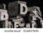 historical letterpress types ... | Shutterstock . vector #526837840