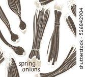 spring onions pattern  seamless ...