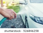 soft focus hand holding car... | Shutterstock . vector #526846258