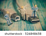 miniature people working  ... | Shutterstock . vector #526848658
