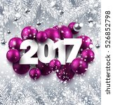 2017 new year background with... | Shutterstock .eps vector #526852798