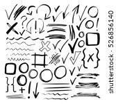 hand drawn sketch black marker  ... | Shutterstock . vector #526856140
