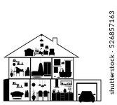 house in cut. detailed modern... | Shutterstock .eps vector #526857163