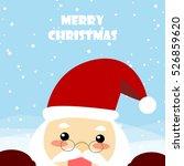 christmas card santa claus...   Shutterstock .eps vector #526859620