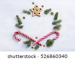 art christmas gift composition. ... | Shutterstock . vector #526860340