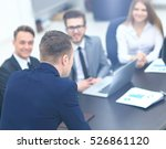 businesspeople at business... | Shutterstock . vector #526861120