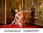 strictly khon dancing  benjakai ... | Shutterstock . vector #526865290